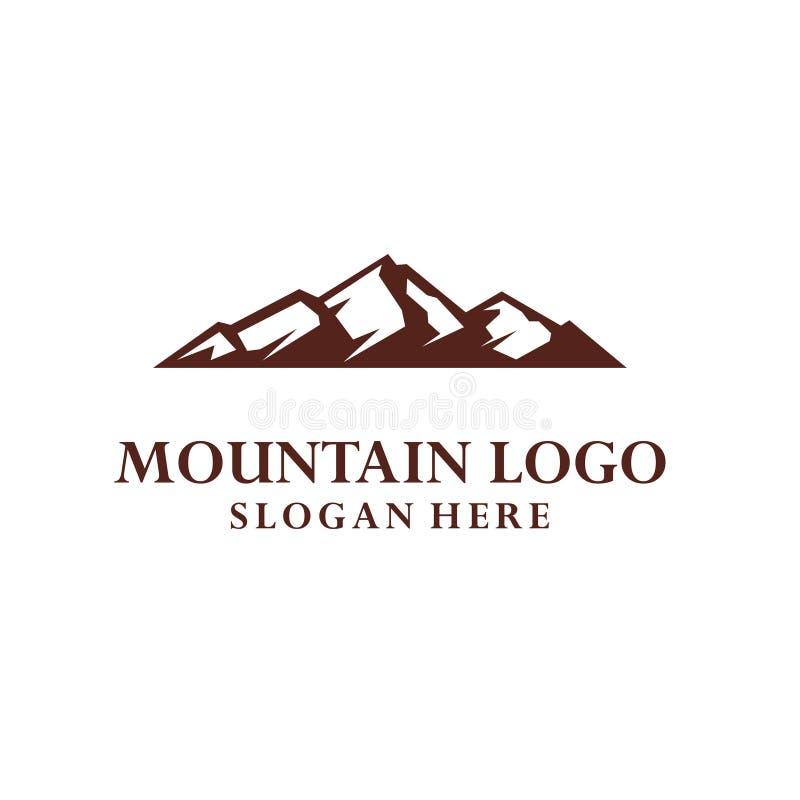 Conception d'illustration d'icône de vecteur de calibre de logo de montagne illustration de vecteur