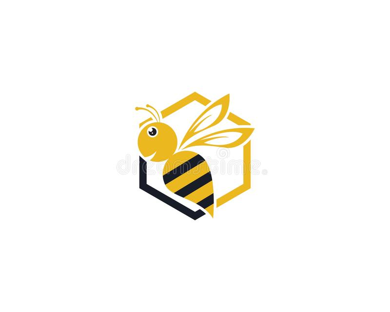 Conception d'illustration d'ic?ne de vecteur de Logo Template d'abeille illustration libre de droits
