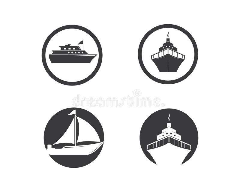 Conception d'illustration d'ic?ne de vecteur de Logo Template de bateau de croisi?re illustration de vecteur
