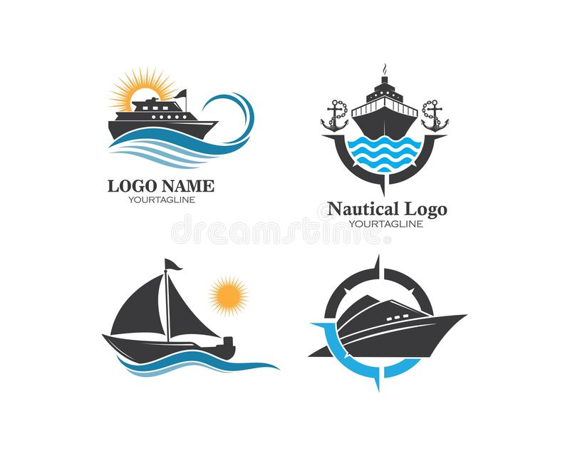 Conception d'illustration d'ic?ne de vecteur de Logo Template de bateau de croisi?re illustration libre de droits