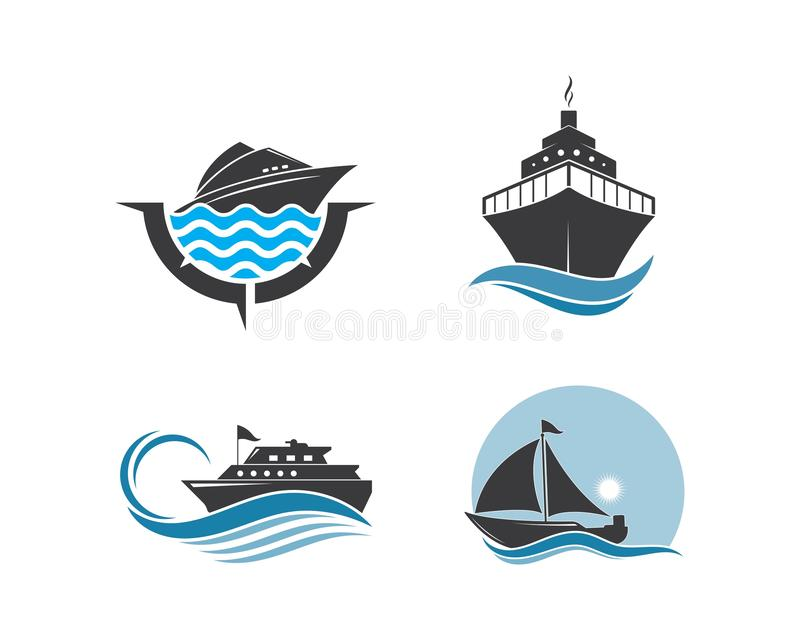 Conception d'illustration d'ic?ne de vecteur de Logo Template de bateau de croisi?re illustration stock