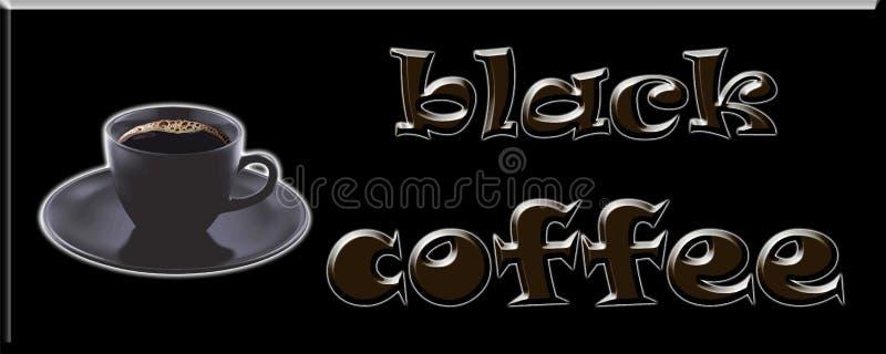 Conception d'image d'illustration de paquet de label de couverture de café noir illustration libre de droits