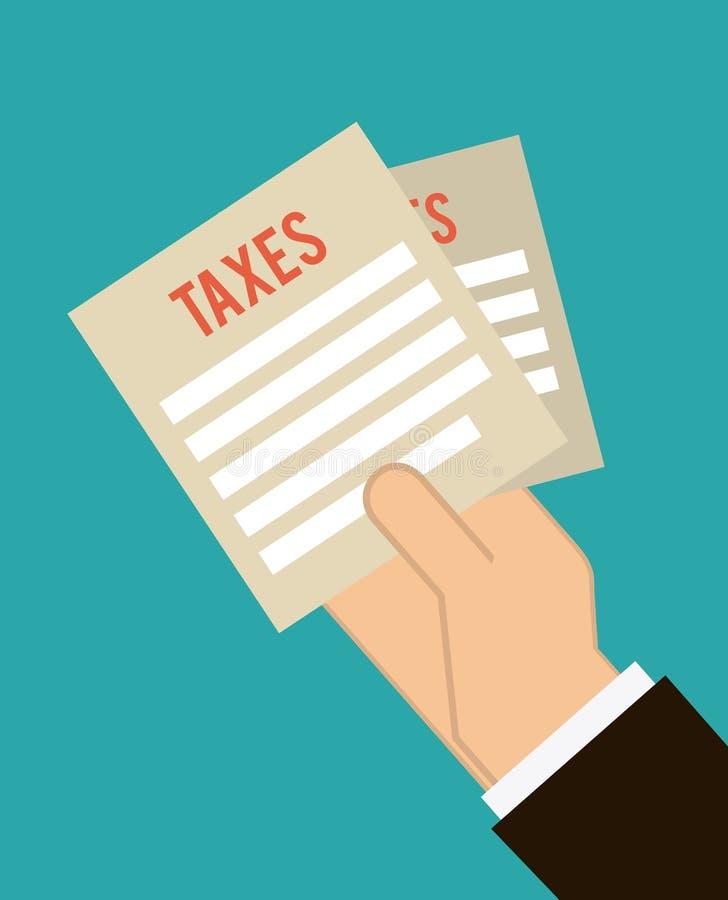 Conception d'impôts illustration de vecteur