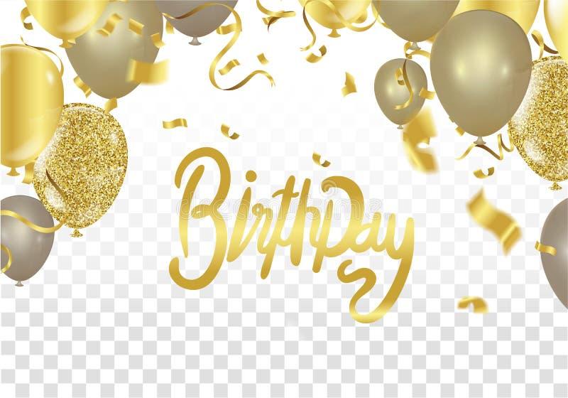 Conception d'impression de partie de célébration de vecteur de joyeux anniversaire Handwritte illustration de vecteur