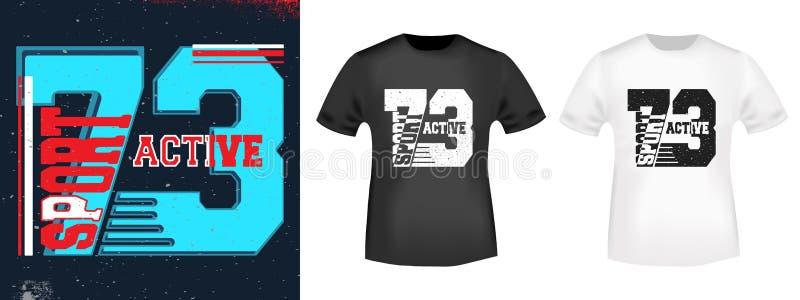 Conception d'impression de T-shirt illustration libre de droits