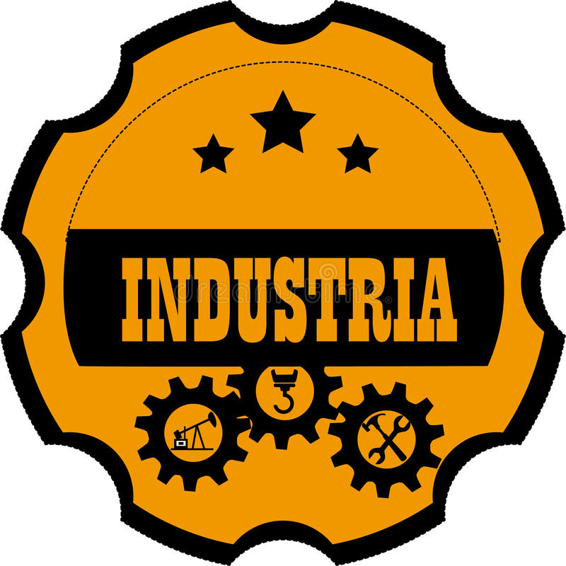 Conception d'industrie illustration stock