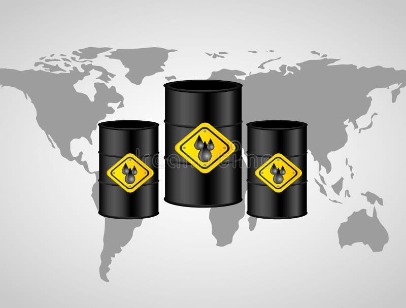 Conception d'industrie pétrolière  illustration libre de droits