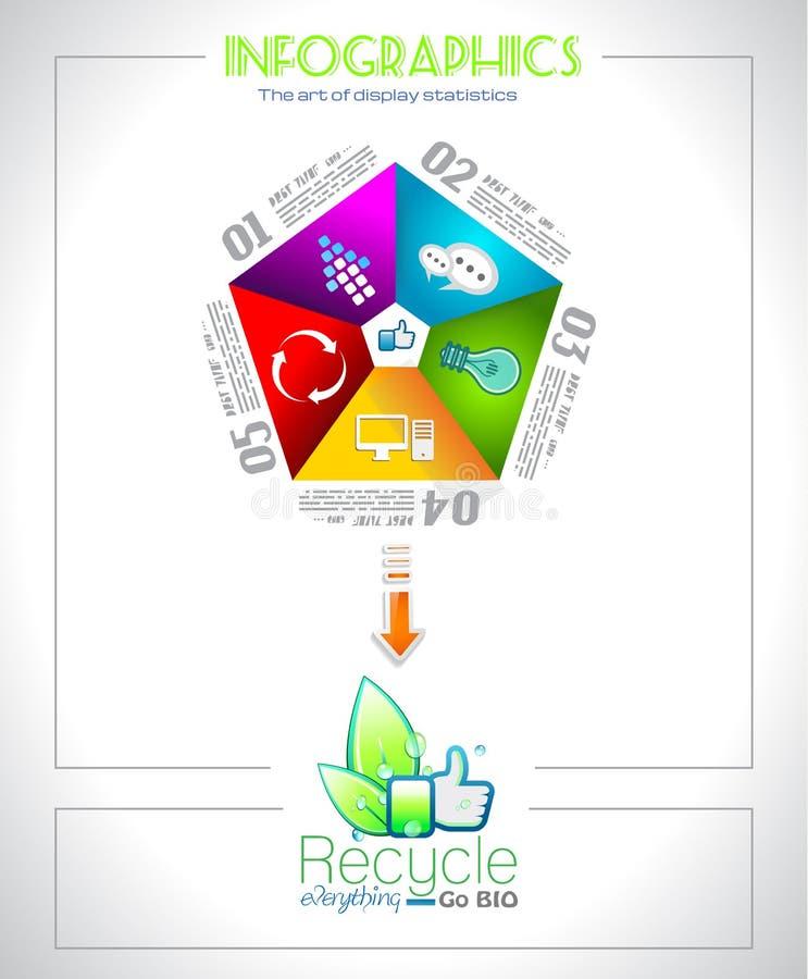 Conception d'Infographic pour la BIO hiérarchie de produit illustration libre de droits