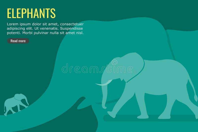 Conception d'Information-graphique de vecteur et de fond d'éléphant illustration de vecteur