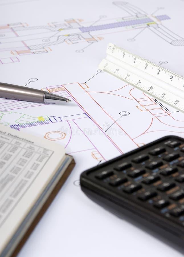 Conception d'ingénierie 3 photos stock