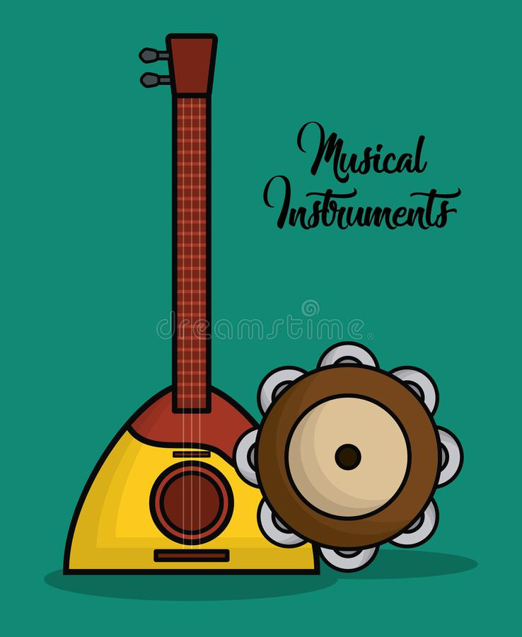 Conception d'instruments de musique illustration stock