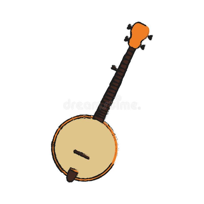 Conception d'instruments de musique illustration de vecteur