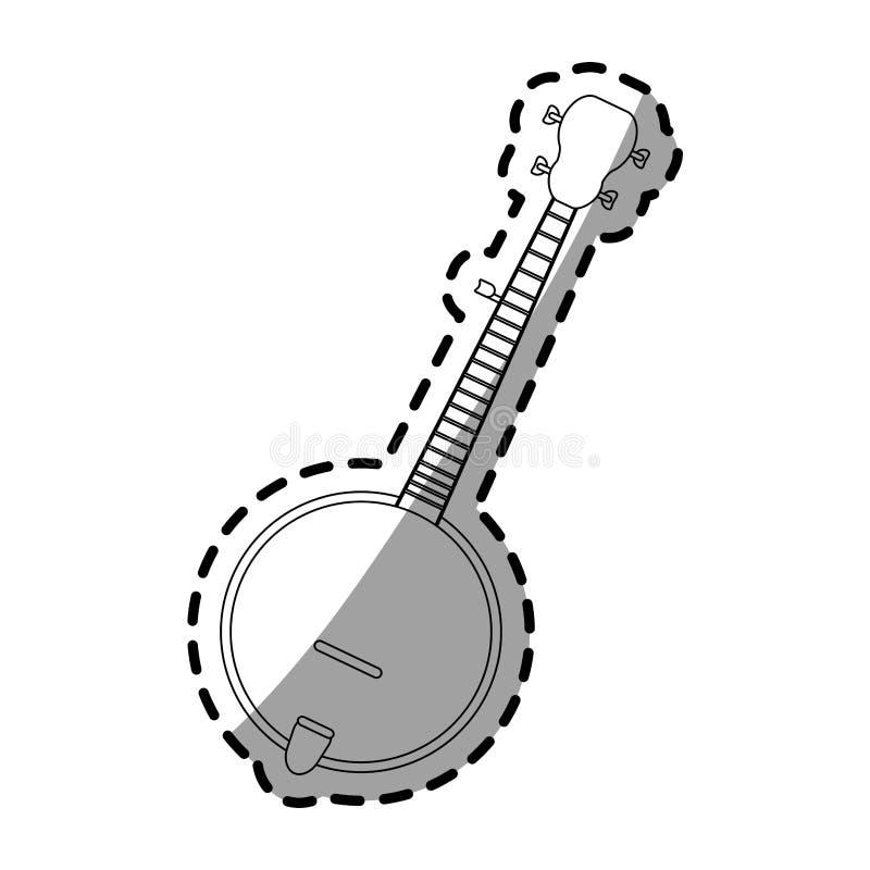 Conception d'instruments de musique illustration libre de droits