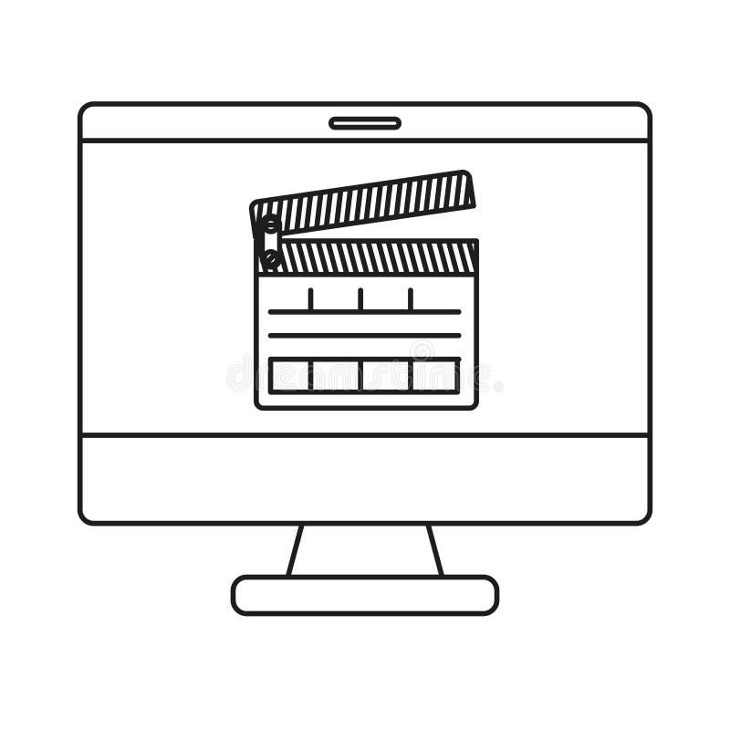 Conception d'isolement de bardeau et d'ordinateur illustration stock