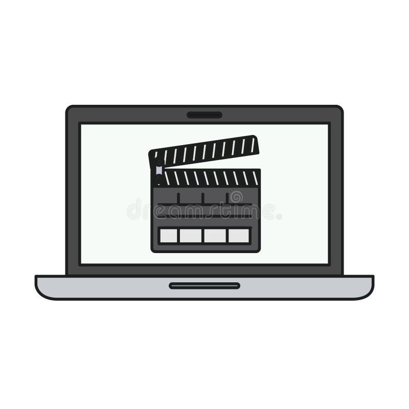 Conception d'isolement de bardeau et d'ordinateur portable illustration libre de droits