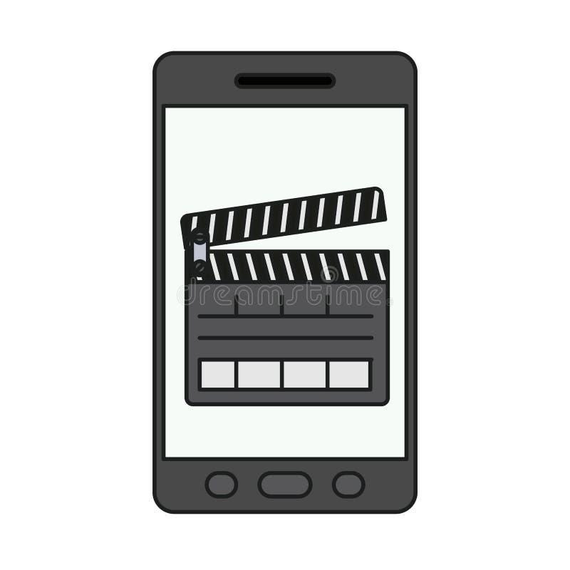 Conception d'isolement de bardeau et de smartphone illustration libre de droits