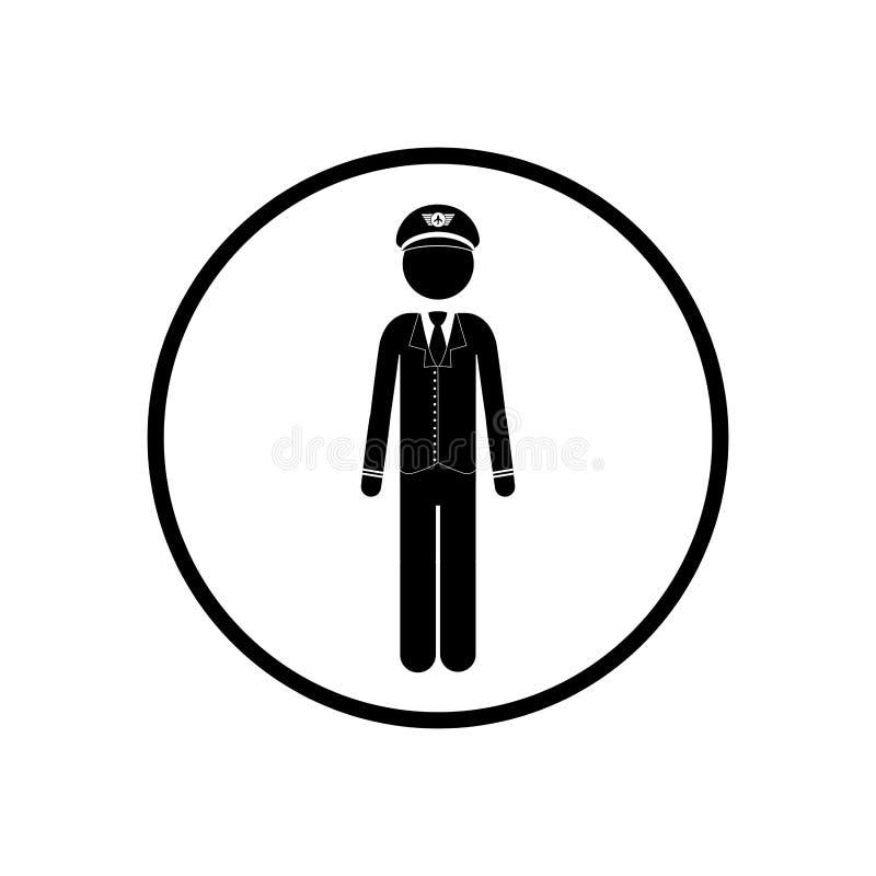 Conception d'isolement de pilote de pictogramme illustration de vecteur