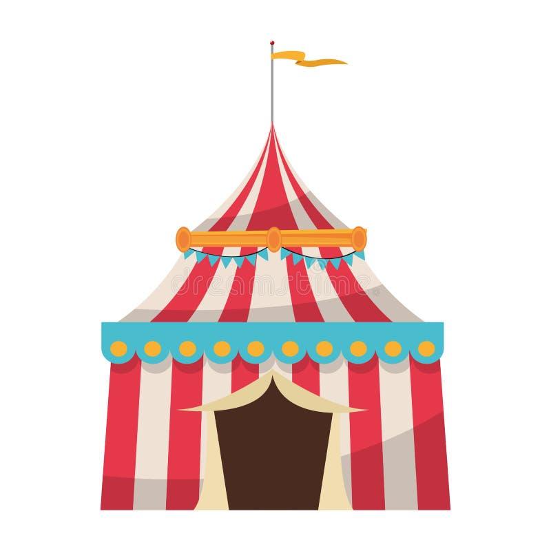 Conception d'isolement de tente de carnaval illustration libre de droits