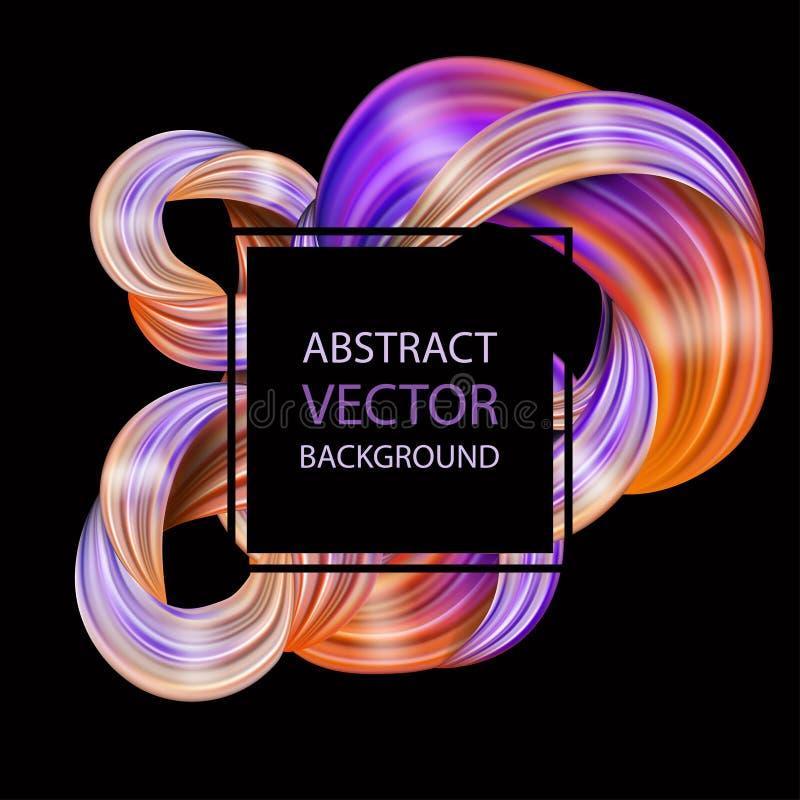 conception 3d liquide abstraite moderne coloré de fond illustration stock