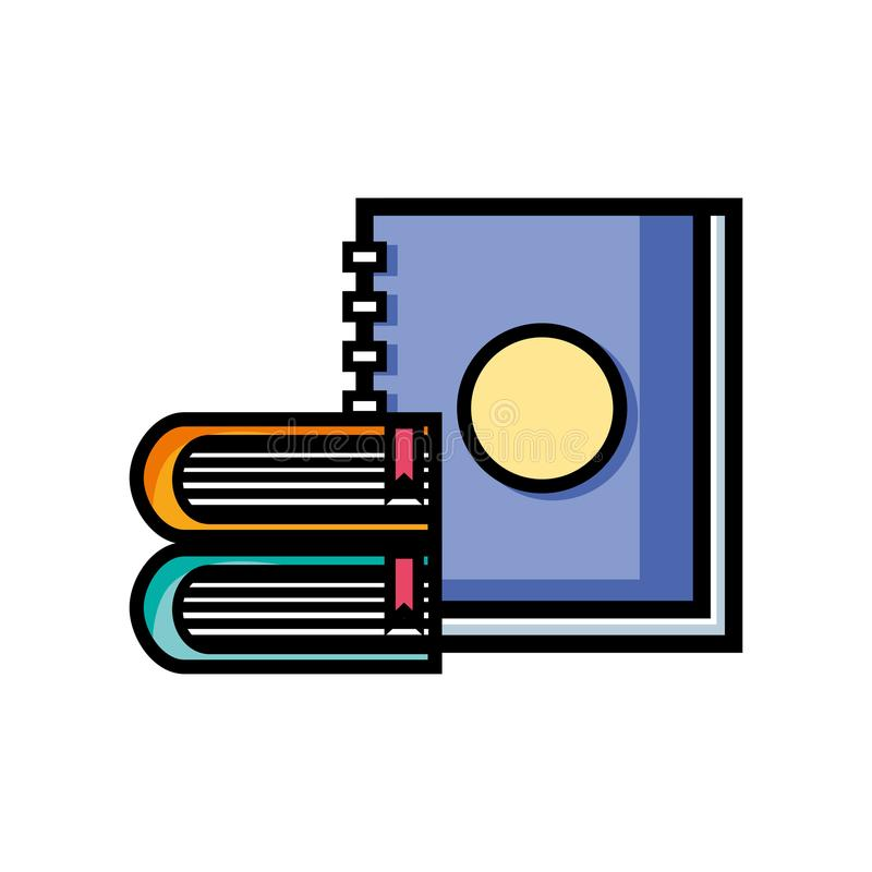 Conception d'objet de livres et de carnet d'éducation illustration de vecteur