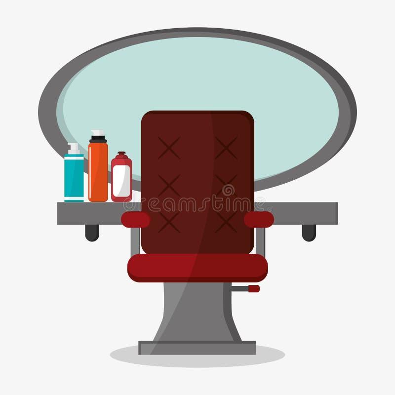 Conception d'outils de salon de coiffure et de salon de coiffure illustration de vecteur