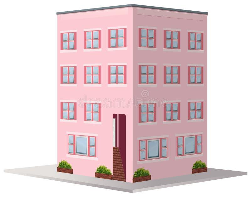 conception 3D pour l'immeuble illustration libre de droits