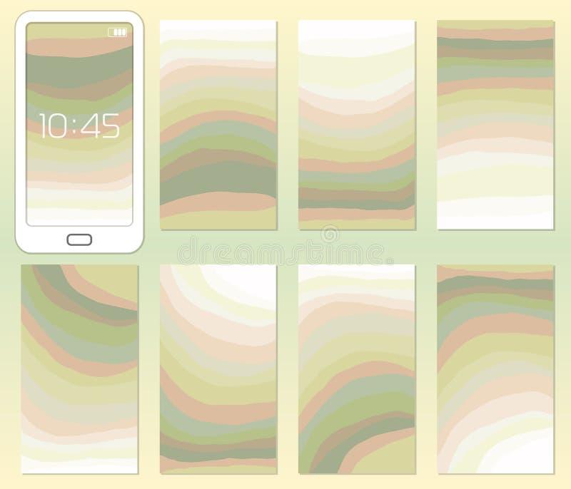Conception d'UI UX, fond multicolore de mélange de concept de résumé avec une ligne en pastel gradient de courbe de couleur illustration de vecteur