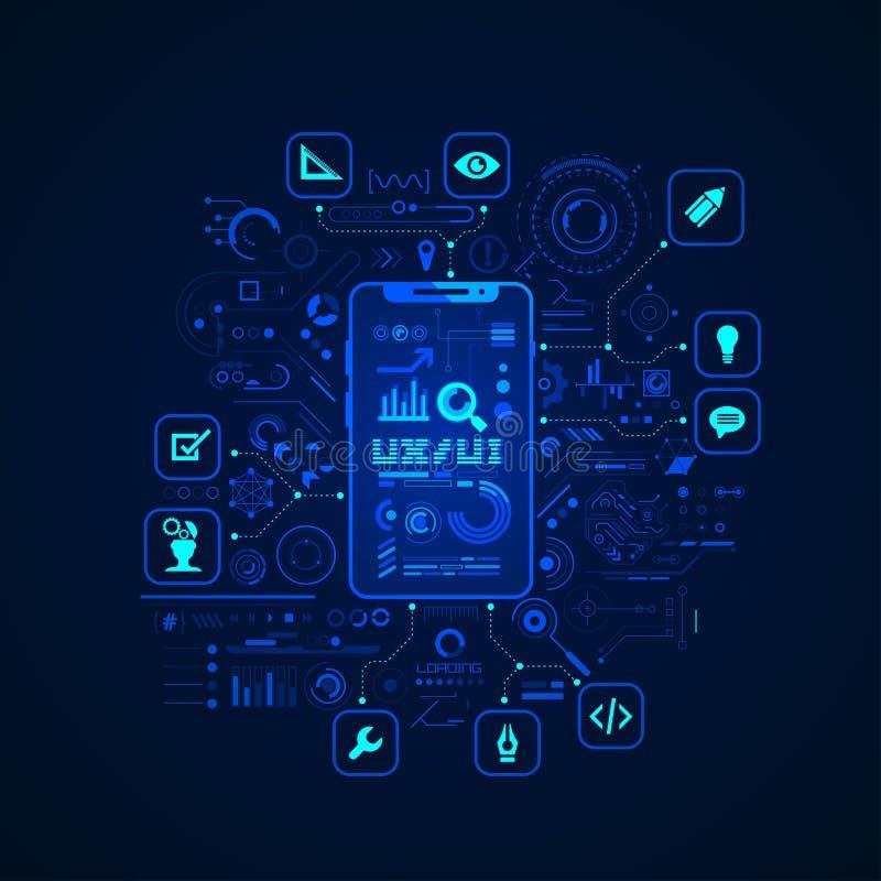 Conception d'UX UI illustration libre de droits