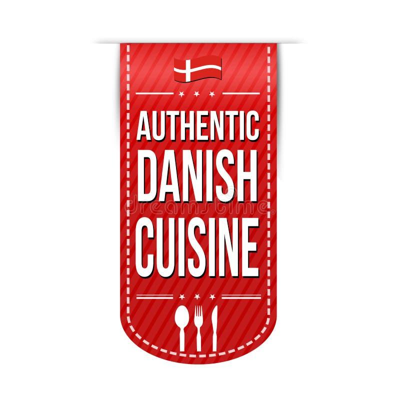 Conception danoise authentique de bannière de cuisine illustration stock