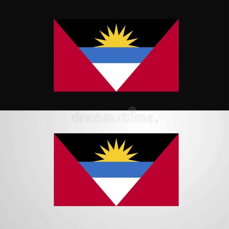 Conception de bannière de drapeau de l'Antigua-et-Barbuda illustration stock