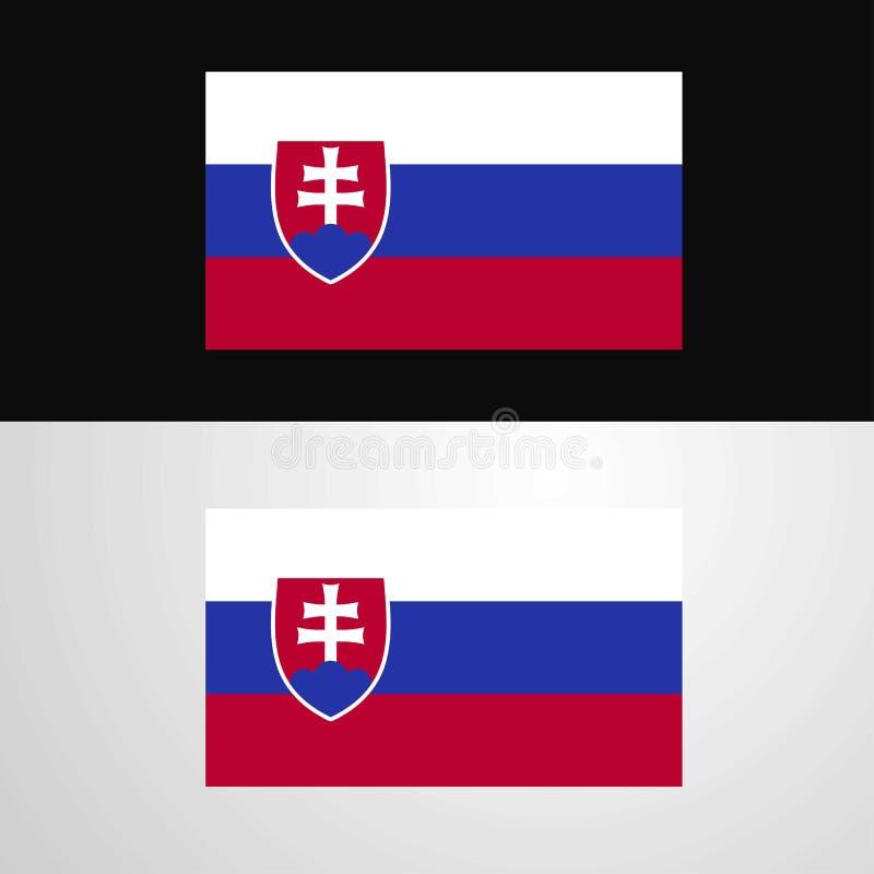 Conception de bannière de drapeau de la Slovaquie illustration de vecteur
