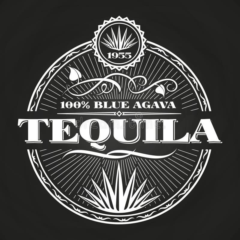 Conception de bannière de tequila de vintage sur le tableau illustration libre de droits