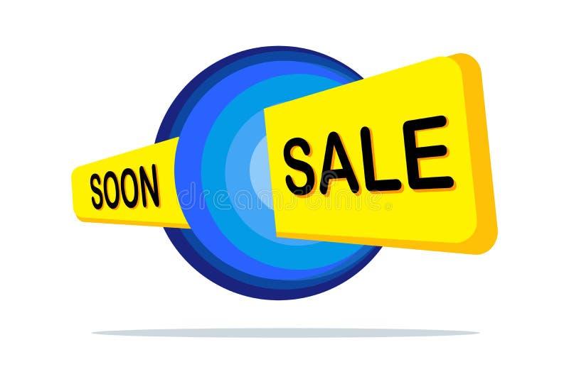 Conception de bannière de vente Bannière jaune d'offre spéciale Affiche de vente Label de remise Étiquette de remise Image de pro illustration libre de droits