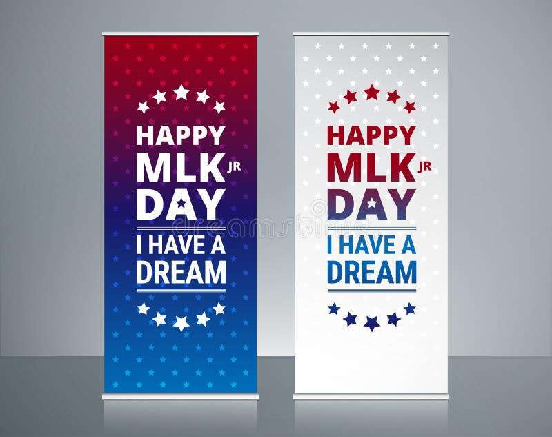 Conception de bannières de remontées pyramidales de Martin Luther King Jr Day - jour de MLK illustration de vecteur