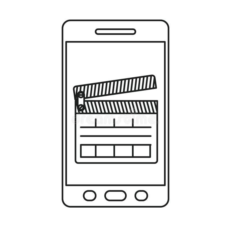 conception de bardeau et de smartphone illustration libre de droits