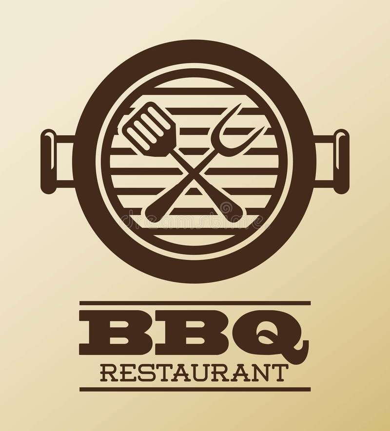 Conception de BBQ illustration stock