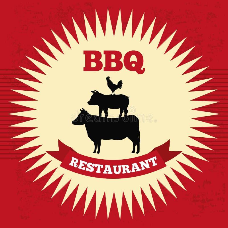Conception de BBQ illustration de vecteur