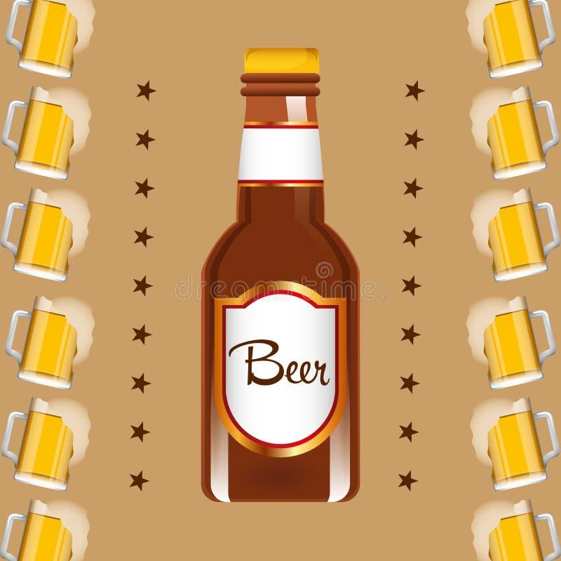 Conception de bière froide illustration de vecteur