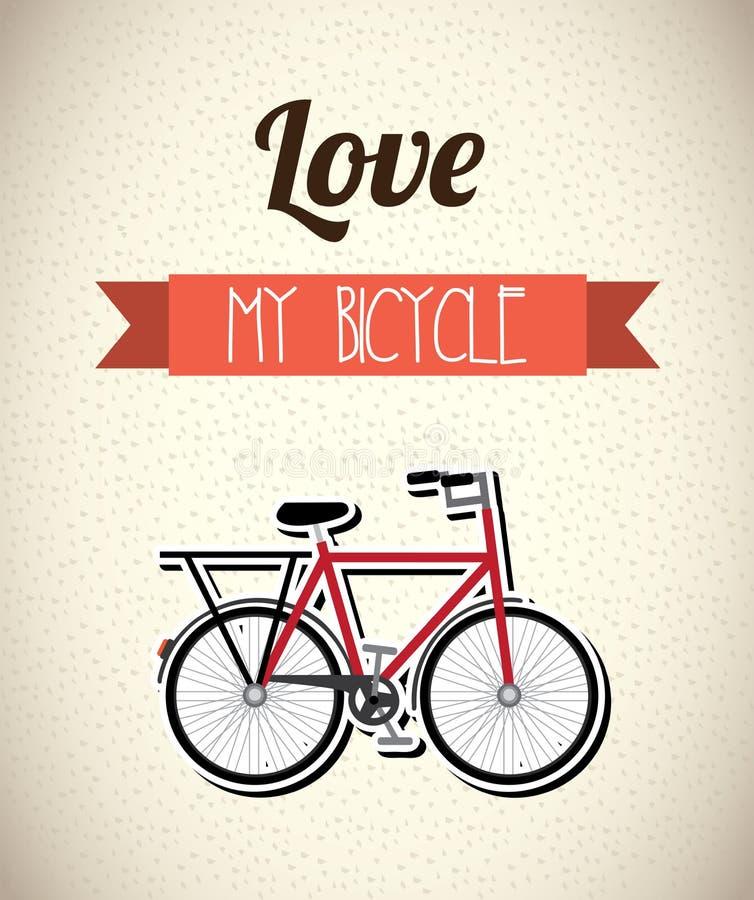 Conception de bicyclette illustration de vecteur
