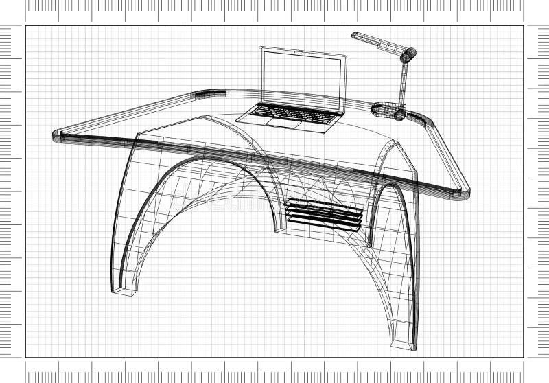 Conception de Blueprint d'architecte illustration libre de droits