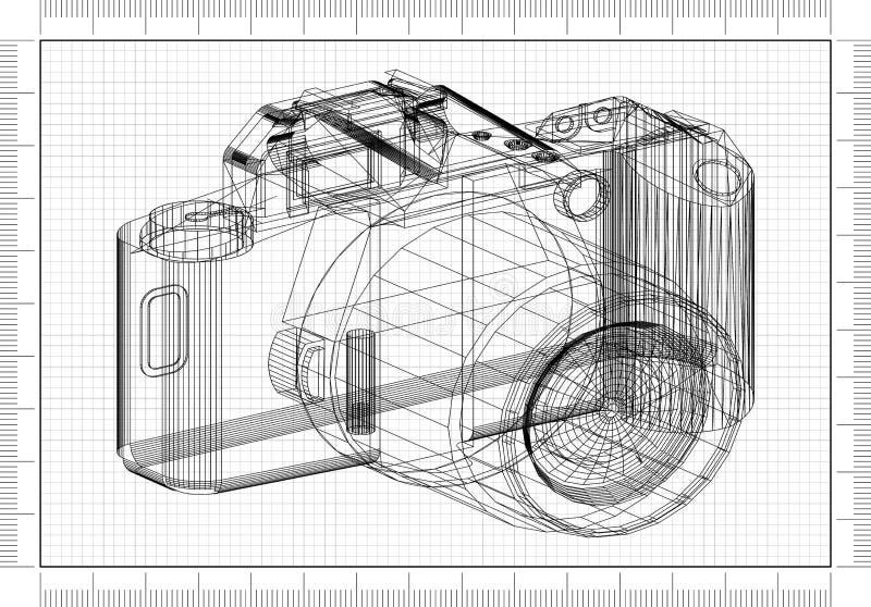 Conception de Blueprint d'architecte illustration stock
