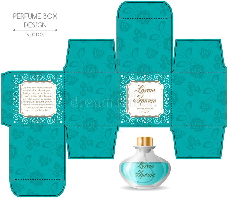 Conception de boîte de parfum illustration libre de droits