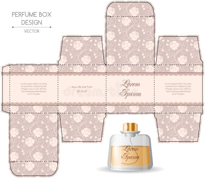 Conception de boîte de parfum illustration de vecteur