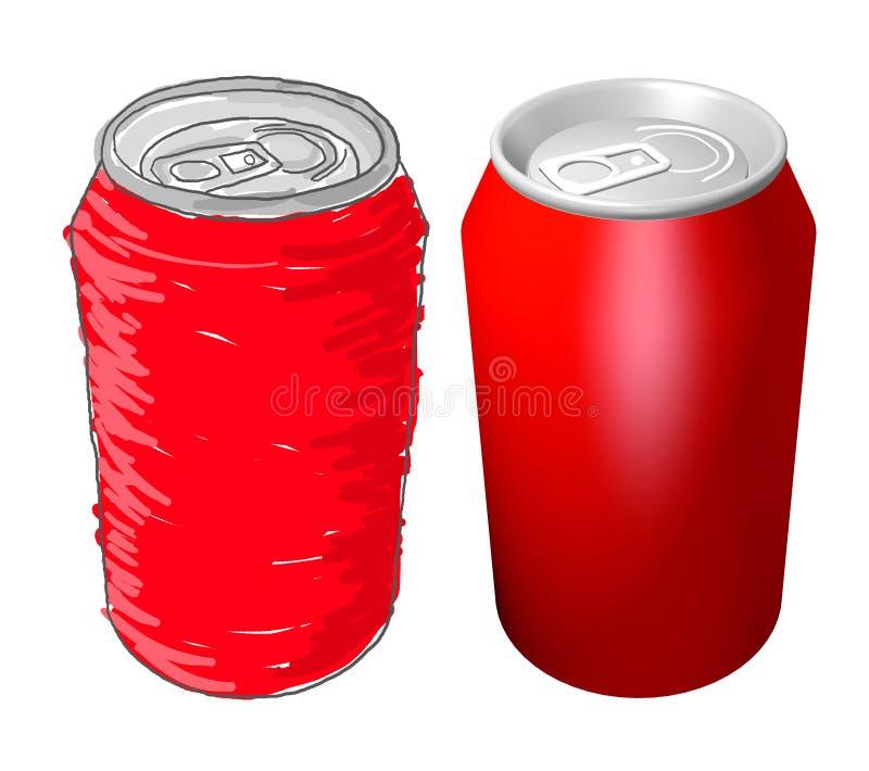 Conception de boîtes de kola illustration libre de droits