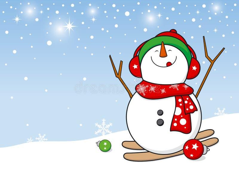 Conception de bonhomme de neige illustration libre de droits
