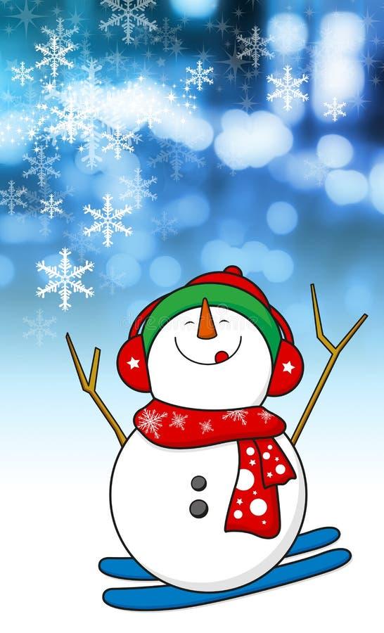 Conception de bonhomme de neige illustration stock