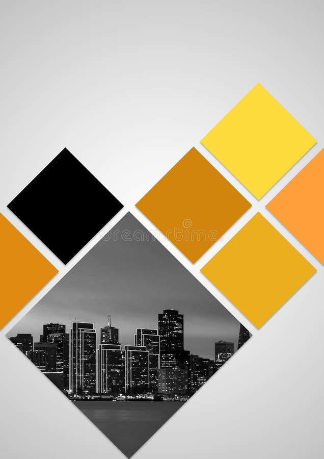 Conception de brochure avec la couleur jaune image libre de droits