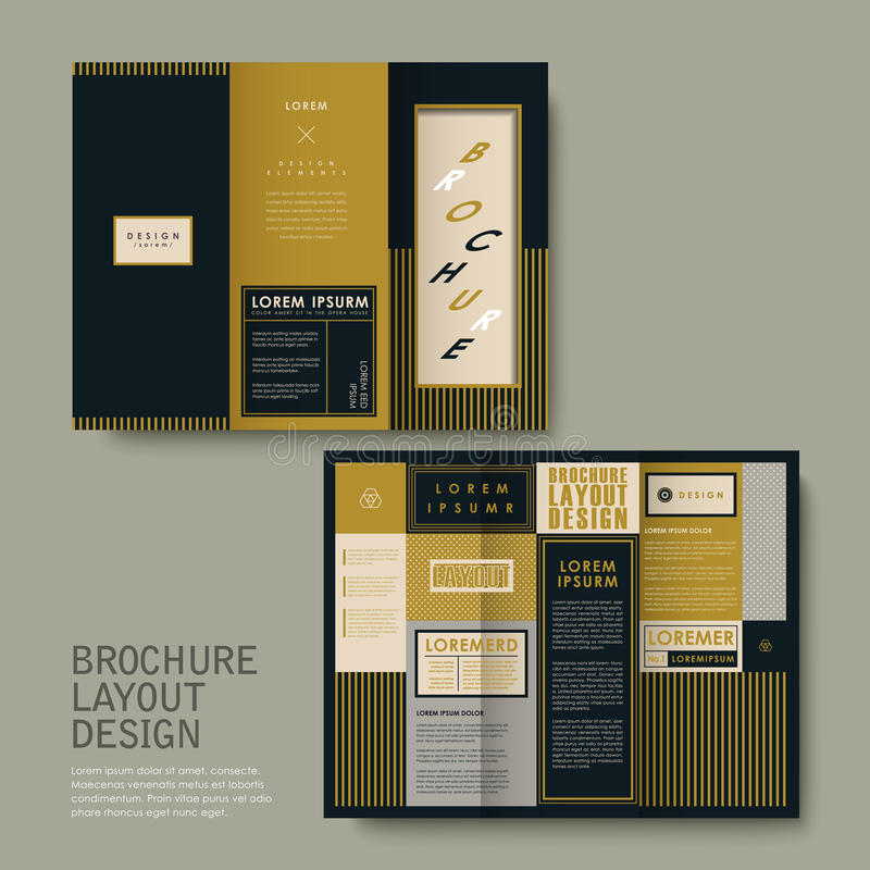 Conception de brochure avec la place illustration libre de droits