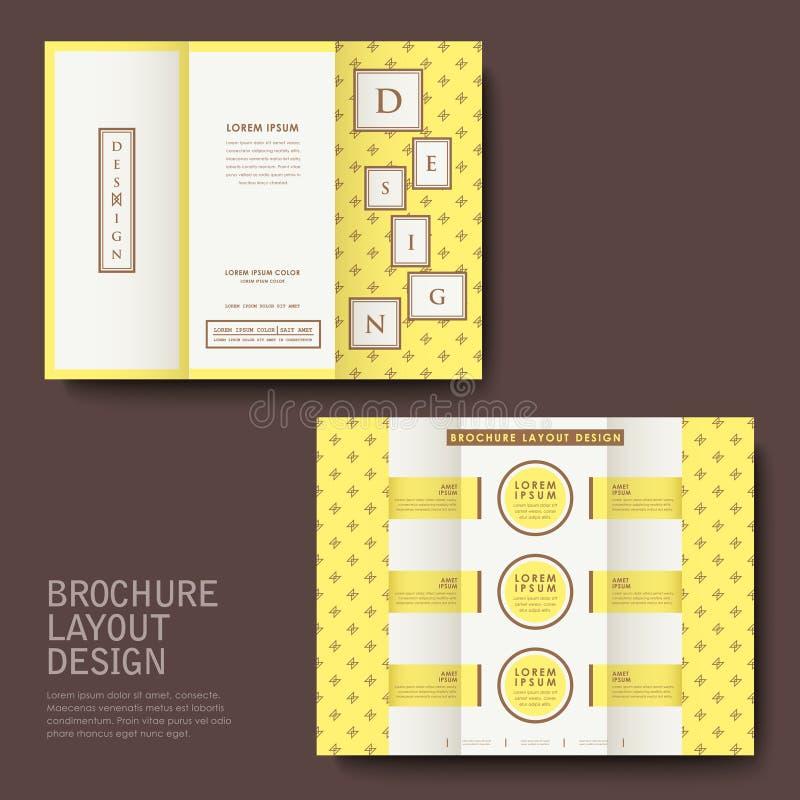 Conception de brochure avec le jaune illustration libre de droits