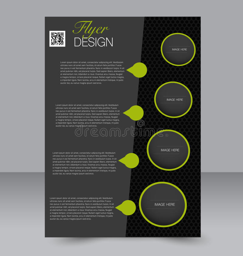 Conception de brochure Calibre d'insecte Affiche A4 Editable illustration libre de droits